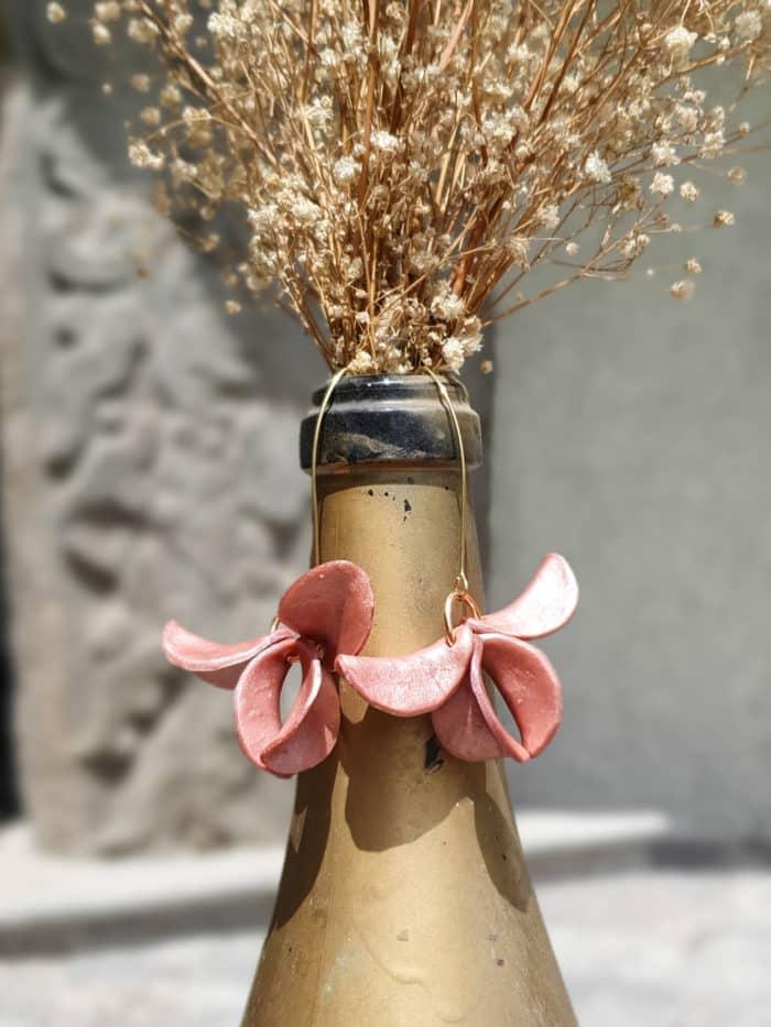 Blushing Pink Primarosa Earrings by Mandarina by Dre | Inspire Me Latin America