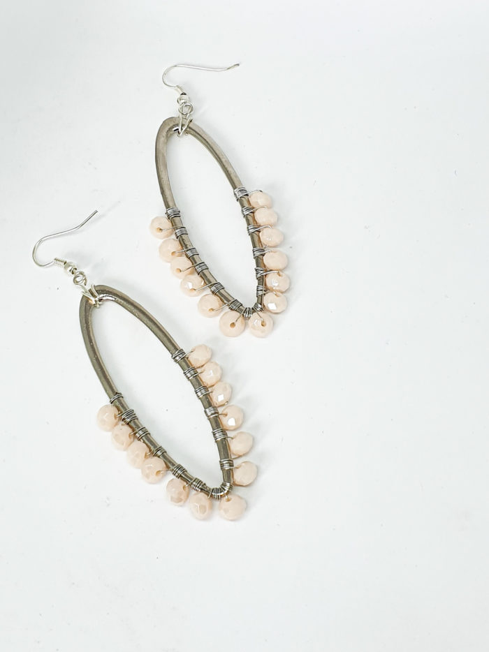Alambrito Hoops with Pink Beading by Mereketé | Inspire Me Latin America