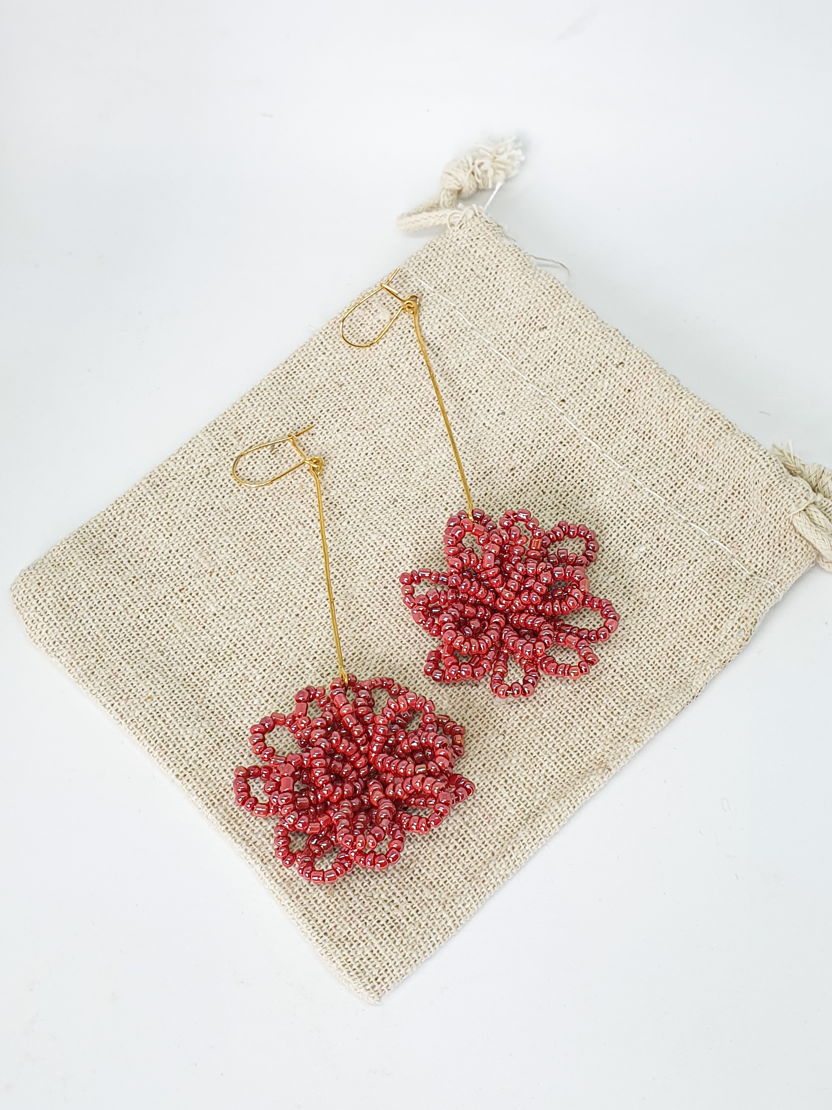 Alambrito Hanging Flower Earrings by Mereketé | Inspire Me Latin America