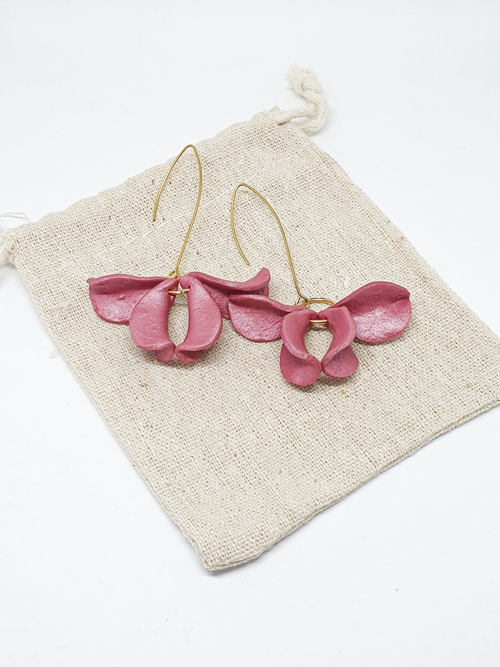 Glistening Pink Primarosa Earrings by Mandarina by Dre | Inspire Me Latin America