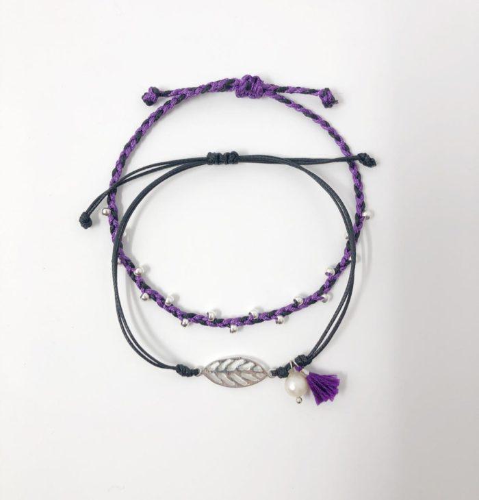 Purple and Black Inspire Me Latin America Signature Bracelet Set by Zila | Inspire Me Latin America