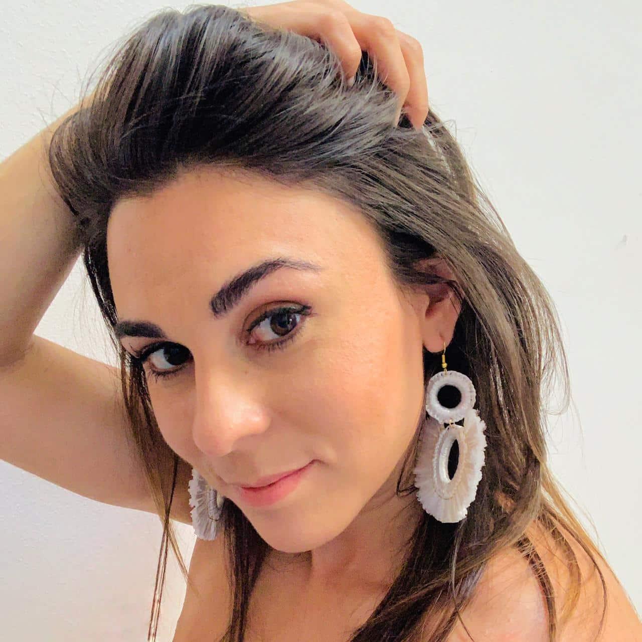 Red Raffia Earrings by Mereketé   Inspire Me Latin America