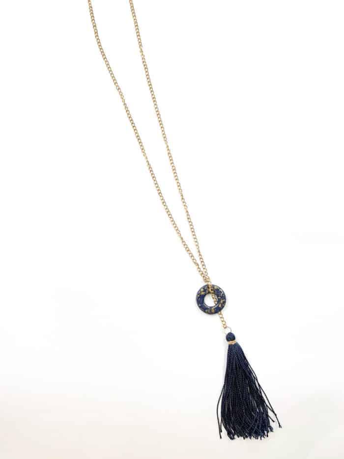 Navy Tassel Necklace by Mereketé | Inspire Me Latin America