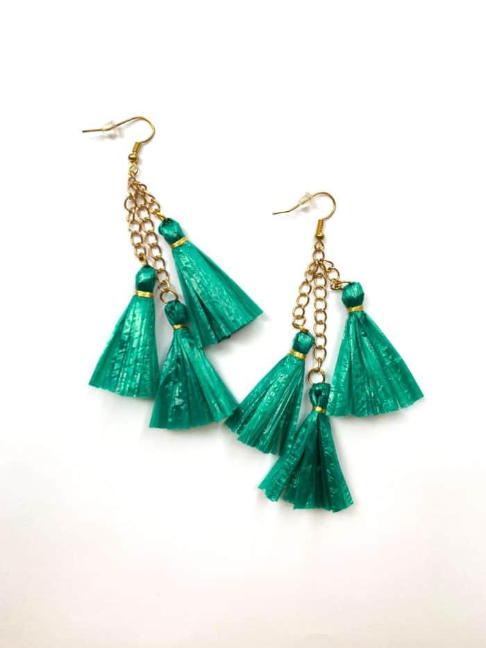 Raffia Tassel Earrings by Mereketé | Inspire Me Latin America