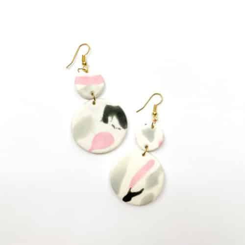 Marble Clay Earrings by Mereketé | Inspire Me Latin America