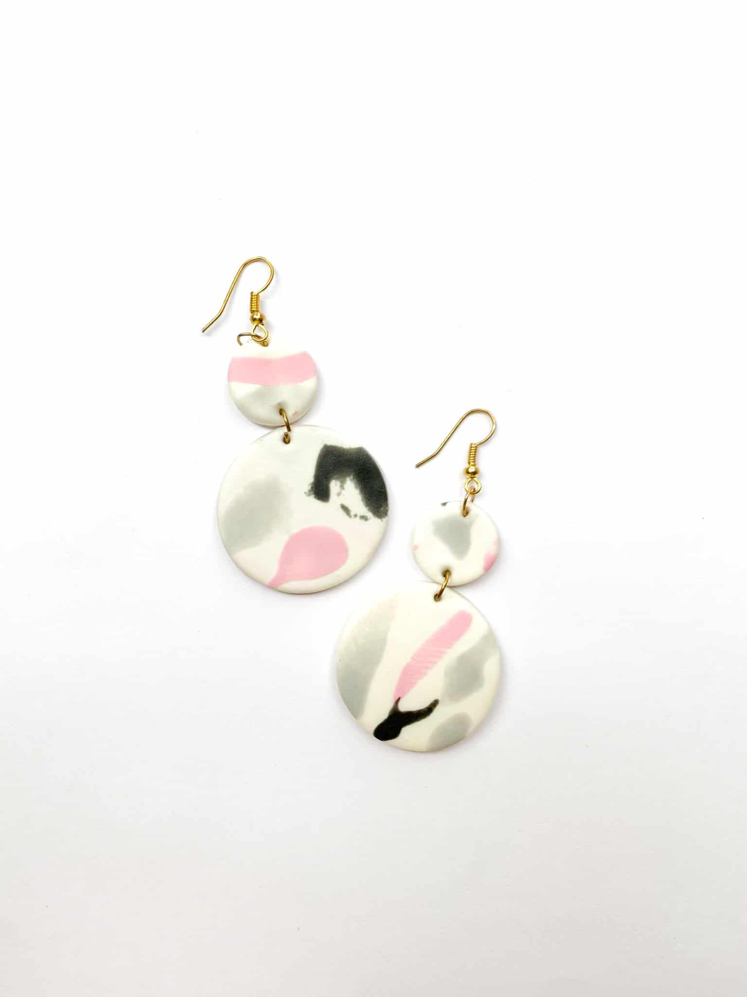 Marble Clay Earrings by Mereketé   Inspire Me Latin America