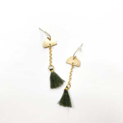 Half-moon Tassel Earrings