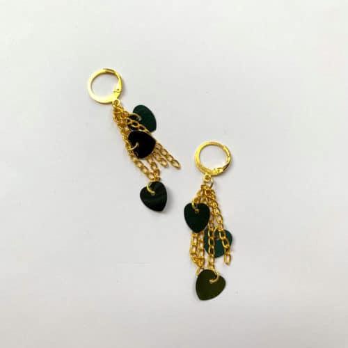 Heart Tassel Earrings by Mereketé |