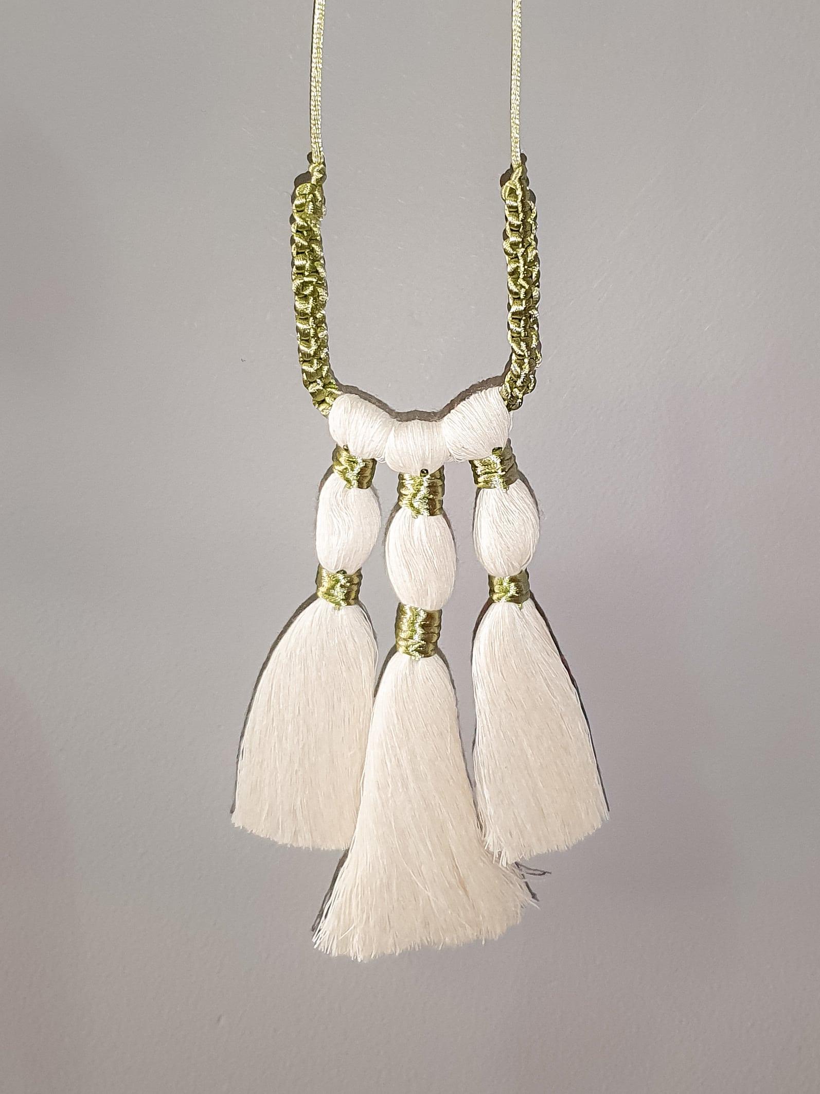 Triple Tassel Macrame Necklace by Amun Handmade Designs | Inspire Me Latin America