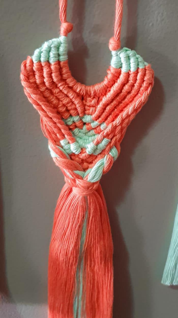 Macrame Long Tassel Necklace by Amun Handmade Designs   Inspire Me Latin America