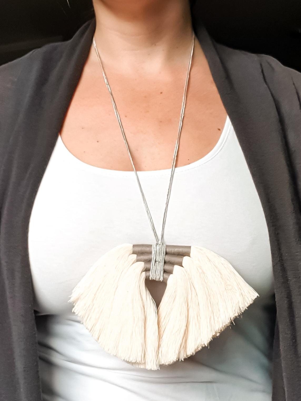 Organic Macrame Necklace by Amun Handmade Designs | Inspire Me Latin America