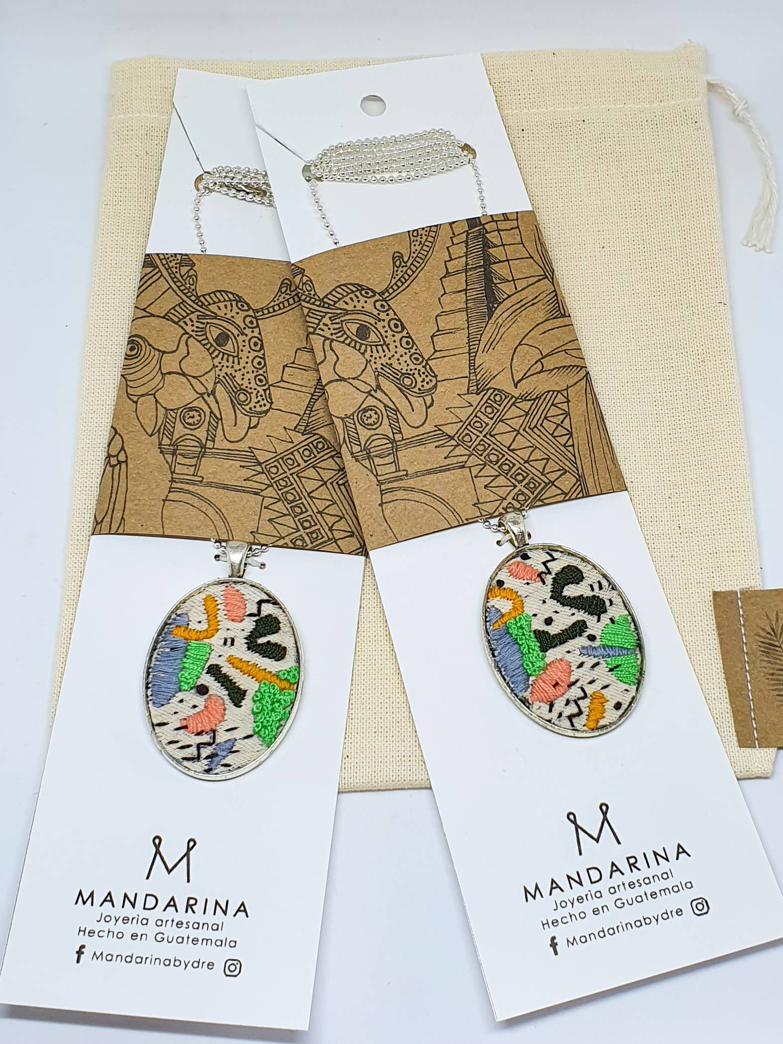 Hilos Geo Pendant Necklace by Mandarina by Dre   Inspire Me Latin America