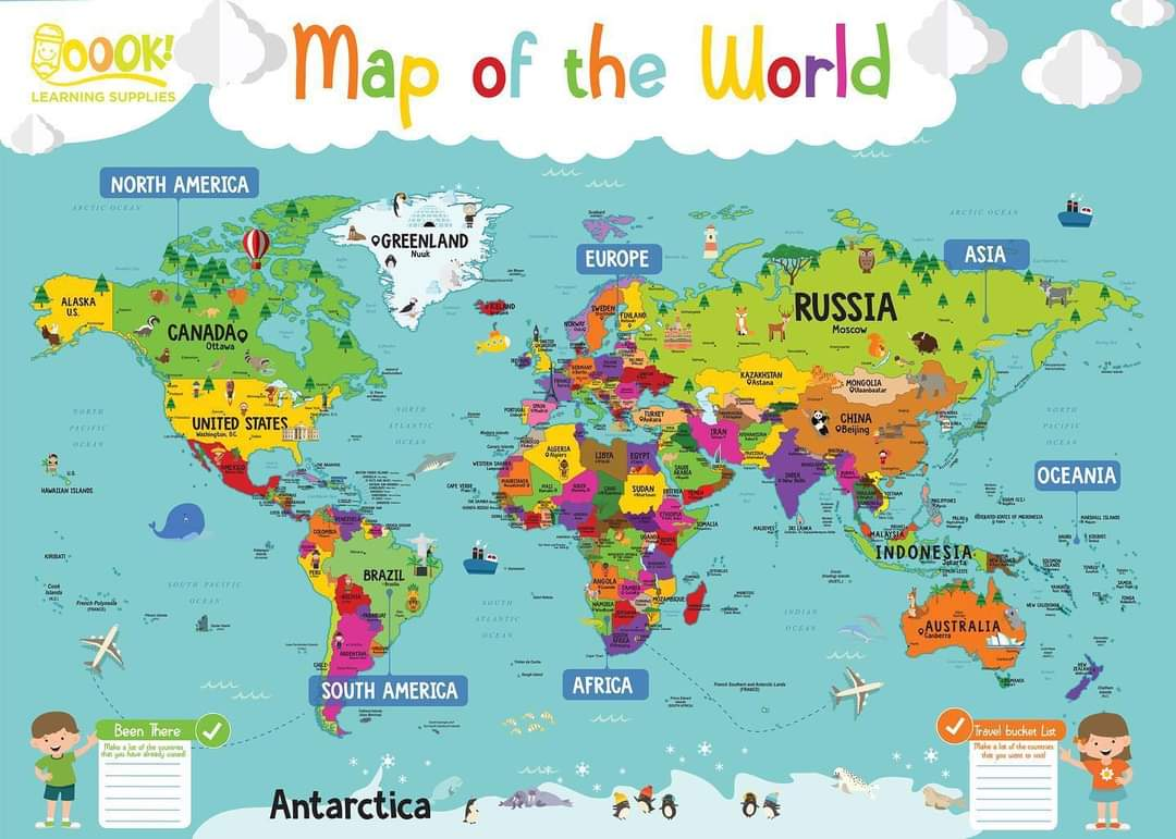 Map of the World by Oook! Learning Supplies | Inspire Me Latin America