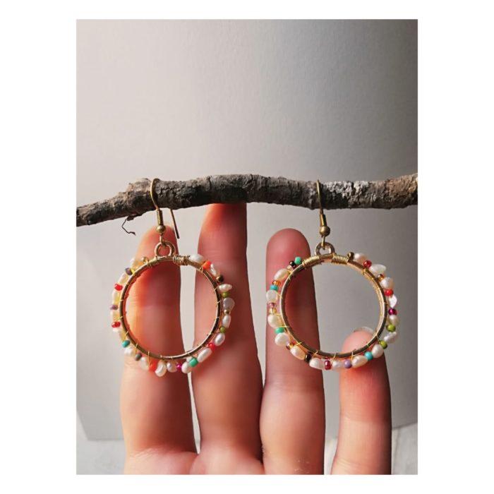 Vintage Perlas Earrings by Mandarina by Dre | Inspire Me Latin America