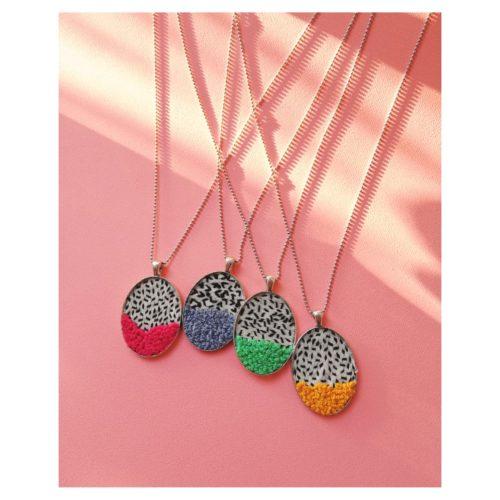 Hilos Oval Pendant Necklace by Mandarina by Dre | Inspire Me Latin America