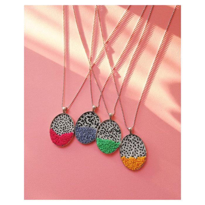 Hilos Oval Pendant Necklace by Mandarina by Dre   Inspire Me Latin America