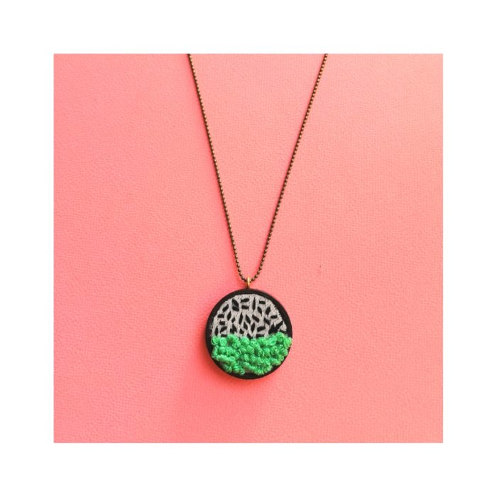 Hilos Wooden Circle Pendant Necklace by Mandarina by Dre   Inspire Me Latin America