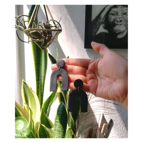 Noir Earrings by Mandarina by Dre   Inspire Me Latin America