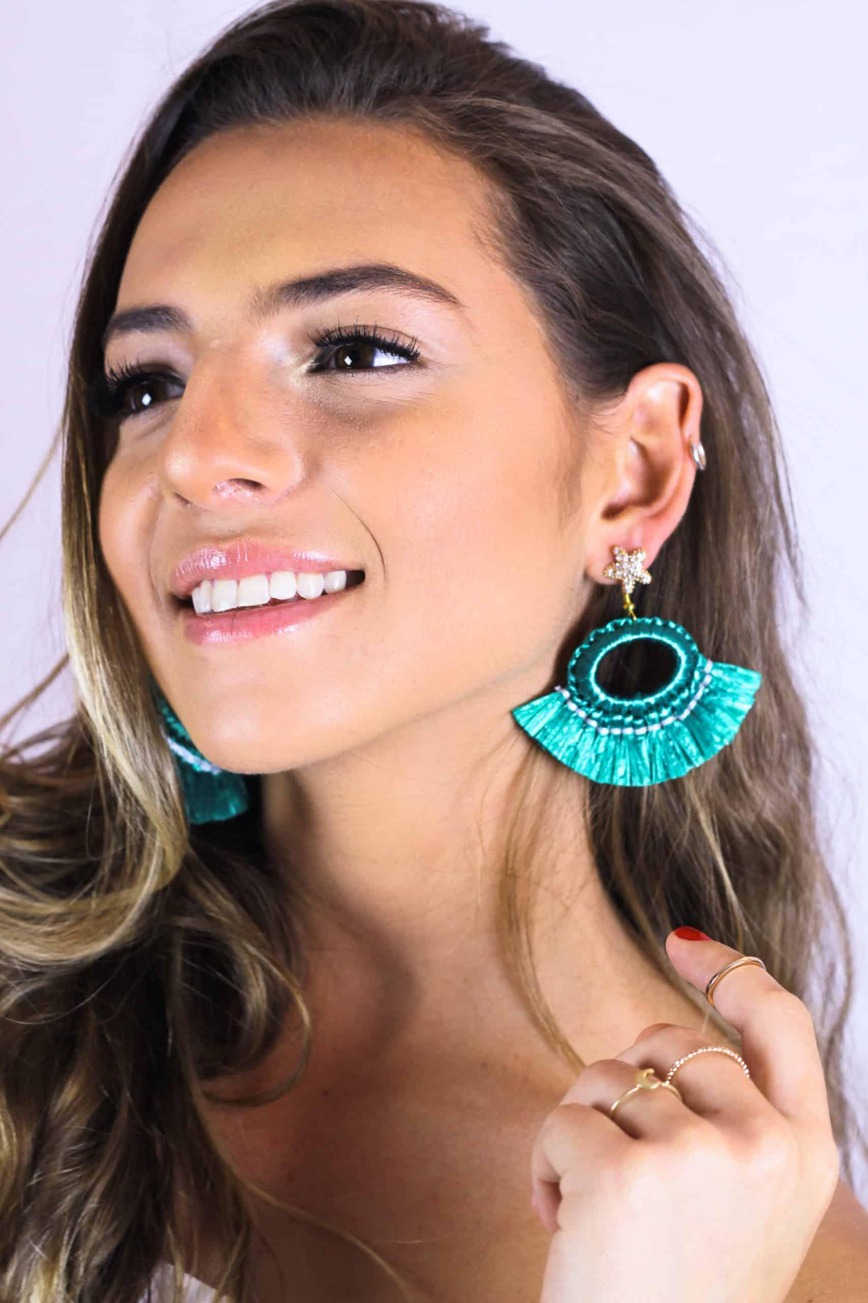 Raffia Pampa Earrings by Mereketé | Inspire Me Latin America