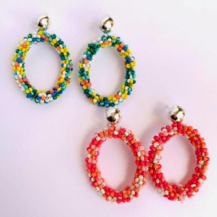 Nerds Hoop Earrings by Mereketé | Inspire Me Latin America