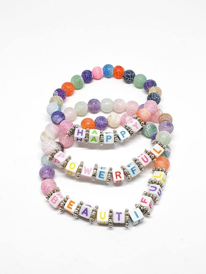 Rainbow Intention Bead Bracelets by Mereketé | Inspire Me Latin America