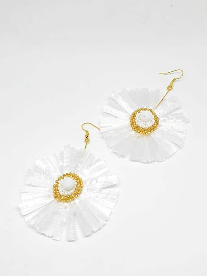 Raffia Flor Earrings by Mereketé   Inspire Me Latin America