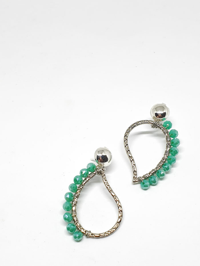 Cristal Leaf Earrings by Mereketé | Inspire Me Latin America