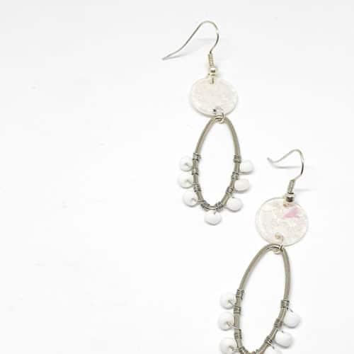 Alambrito Chipseado Earrings by Mereketé | Inspire Me Latin America