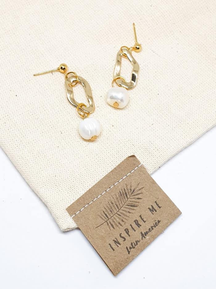 Water Pearls Earrings by Mereketé | Inspire Me Latin America