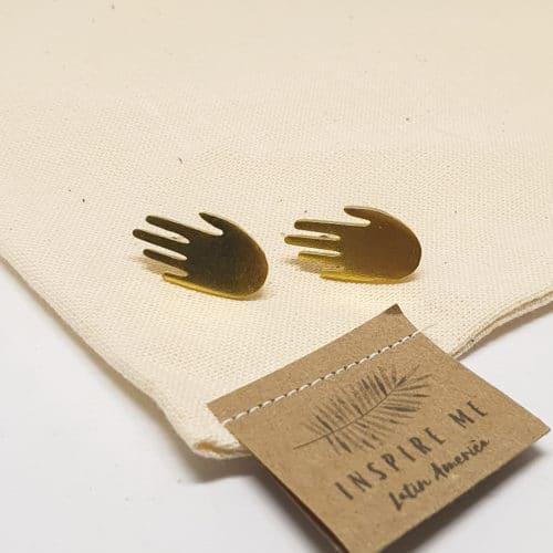 Hamsa Earrings by Mandarina by Dre | Inspire Me Latin America