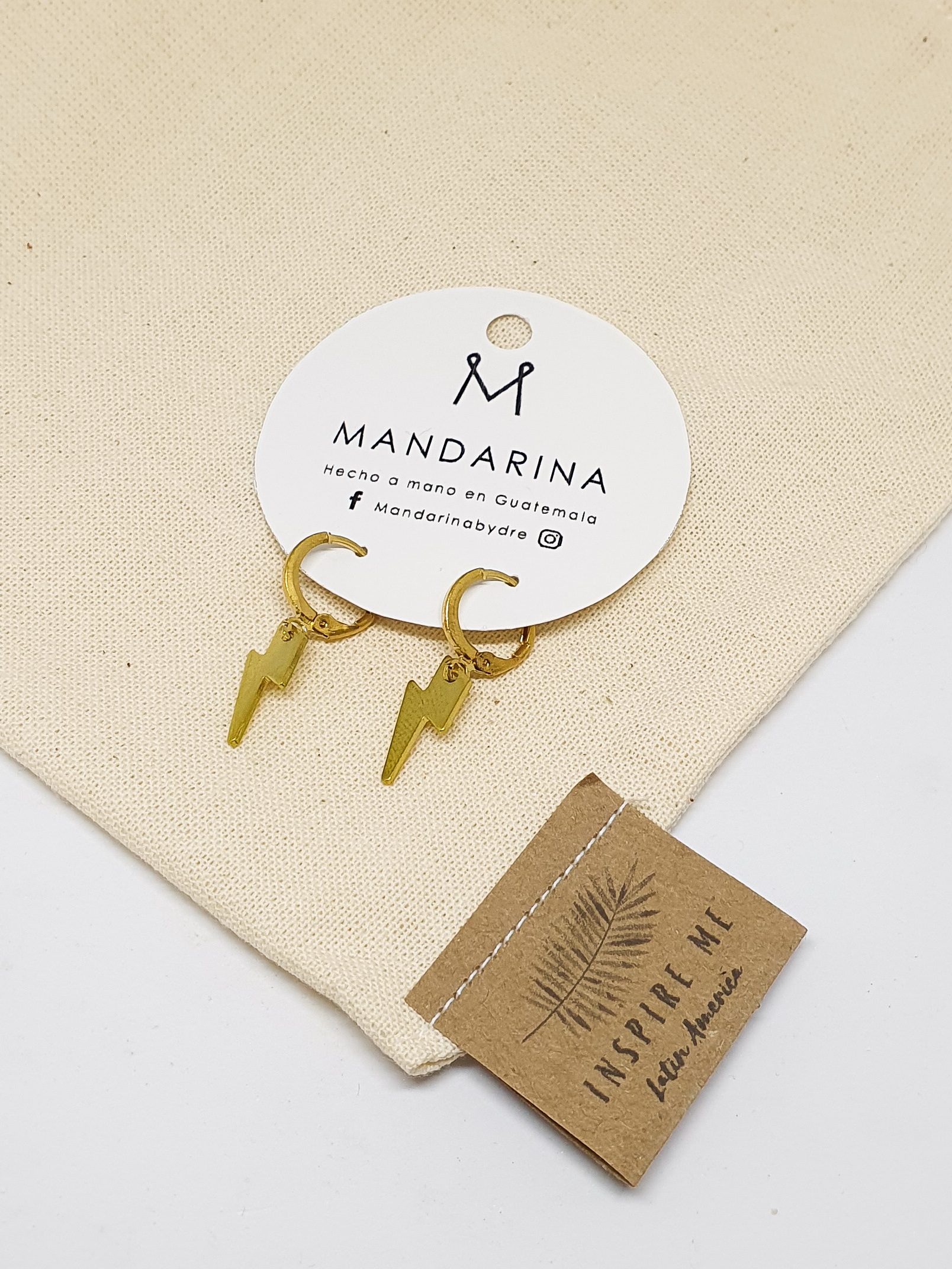 Fuerza Rayos Earrings by Mandarina by Dre   Inspire Me Latin America