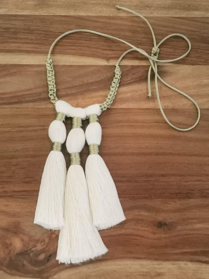 Triple Tassel Macrame Necklace by Amun Handmade Designs   Inspire Me Latin America