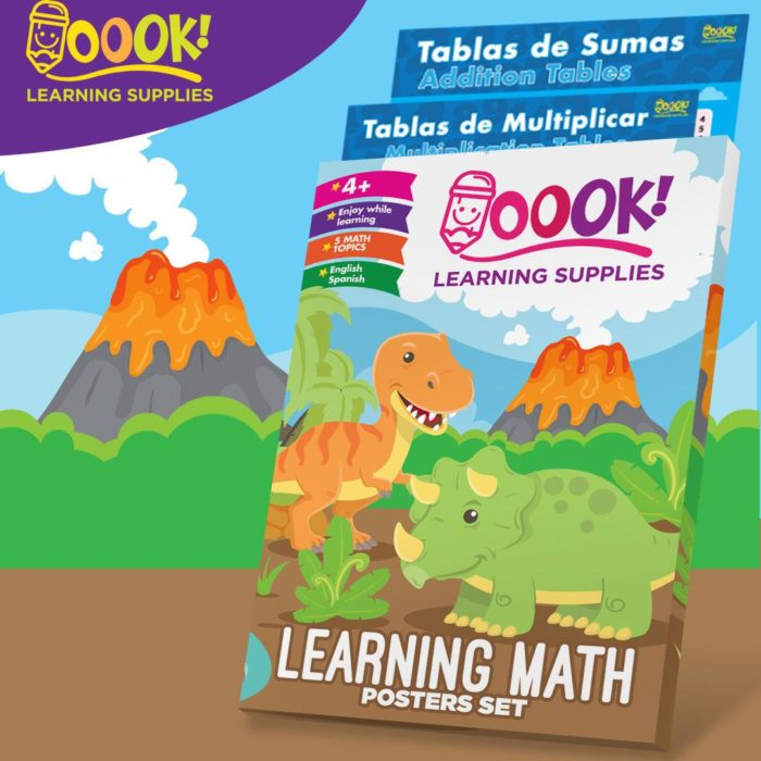 Learning Math Posters Set from Oook! Learning Supplies   Inspire Me Latin America