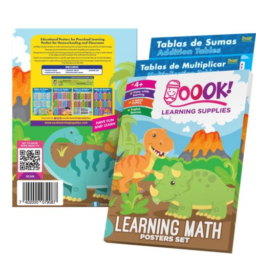 Learning Math Posters Set from Oook! Learning Supplies | Inspire Me Latin America