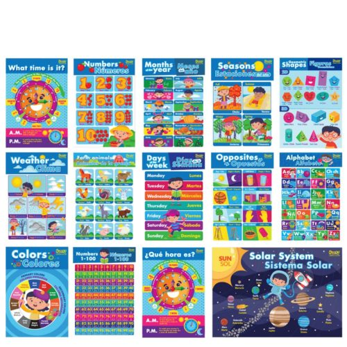 Bi-Lingual Learning Posters by Oook! Learning Supplies | Inspire Me Latin America