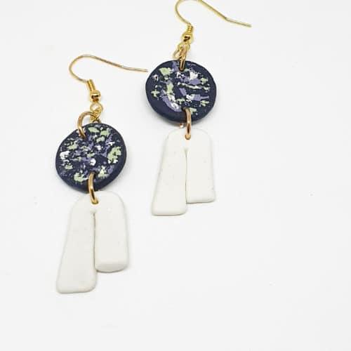 Polymer U-Blusher Earrings by Mereketé | Inspire Me Latin America