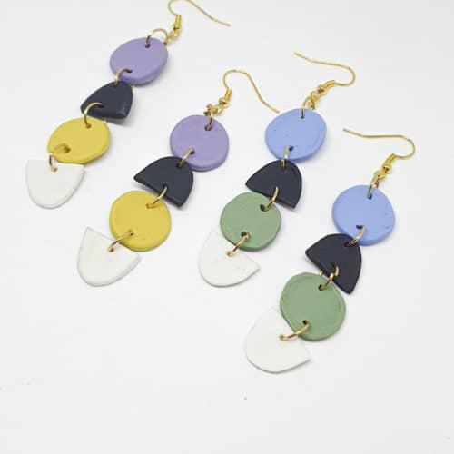 Polymer Shapes Earrings by Mereketé | Inspire Me Latin America