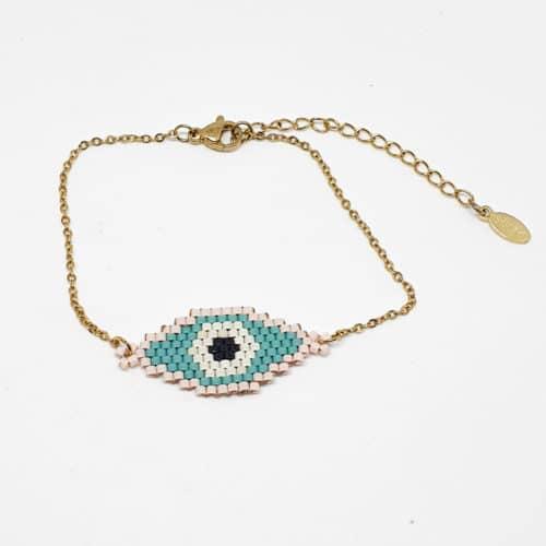 Evil Eye Miyuki Bracelet by Korotos | Inspire Me Latin America
