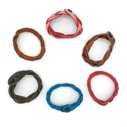 Braided Leather Bracelets from Poncho's Bags | Inspire Me Latin America